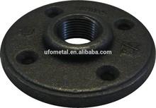 black malleable steel floor flange