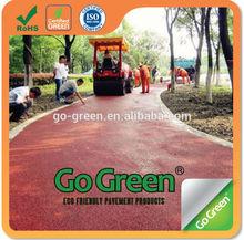 landscape paving color asphalt red