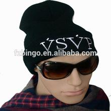 2014 selling fabric beanie hat pattern wholesale custom hip hop mens beanie hat