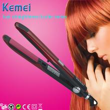 km320 Kemei ceramic personalized hair straightener hair flat iron