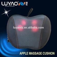 2014 Apple shiatsu massage cushion,Kneading Area: back ,neck,leg,feet ,red LY-728B