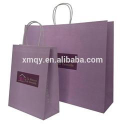 Kraft paper bag purple XIAMEN