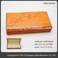 Promotionnel or Stamp carton pliage boîte de couture en bois
