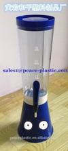 Plastic juice dispenser/Beer Tower/liquor dispenser