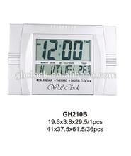 Digital clock with temperature,calendar,11 inches thin display wall/desk clock