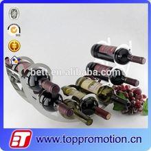 New design metal wine bottle glass candle holder