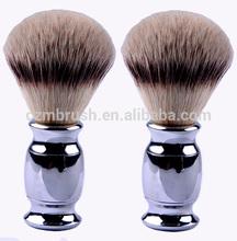 popular shaving brush stainless handle nylon hair for men wholesale shaving brush