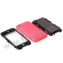 3 in 1 Detachable Double Color Silicone +PC Cover Hybrid Case for iPod Touch 4