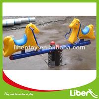 Cute Outdoor Plastic Kids Seesaw for School Horse Design LE.QB.072