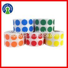 Printing Custom Adhesive Printed Waterproof Logo Labels,Vinyl Dot Sticker