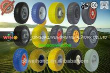 11 years factory any inch PU foam flat free hand trolley PU wheel