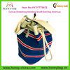 Canvas Drawstring Handbag Amalfi Sail Bag Americas Stripe Hand Bags Woman 2014