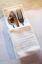 Put the tableware kitchen towel