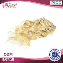 On Sale Virgin Hair Clip In Hair Extensions 613 Light Blonde