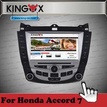 Kingox car dvd 8 inch HD TFT screen gps dvd player for honda 7 car multimedia with 720P IPOD DVD DVB-T