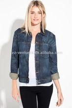Unisex faded Denim Jacket/Dark Blue Denim jacket,
