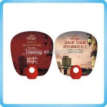 2014 plastic hand fan, promotion pp hand fan, plastic fan with handle