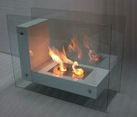 free standing glass fireplace ethanol fireplace