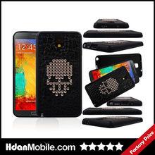 Skull PU Printing Soft TPU Cover Case for Samsung Galaxy Note 3 TPU Case