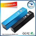 portátil 2600 mah banco de potencia usb mini cargador