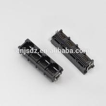 RJ45 Top Entry 1*4 port PCB Socket/Connector