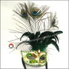 Wholesale Rhinestone party costume mask peacock feather mask paintball mask