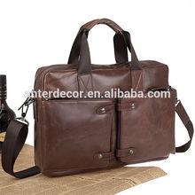 latest design business men bag real leather bag