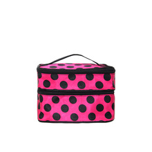 wave point pattern top-grade women beauty bag,storage bag for traveling