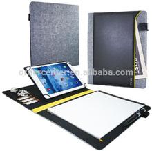 Executive Black A4 Vinyl Flip Cover Portfolio for iPad Tablet Universal Case