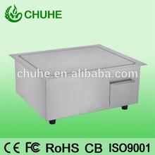 Adjust temperatureelectric cast iron grill / griddle