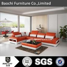 Baochi office sofas best prices china,imported genuine leather sofa,swedish sofa in black leather C1188C