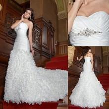 CXC1645 Strapless Sweethearted Ruffle Trumpet Wedding Dress Patterns Free