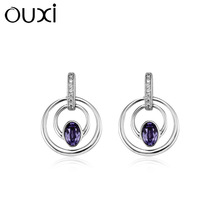 2014 summer fashionable real cheap 925 silver earrings jewelry made with Crystal Y20146