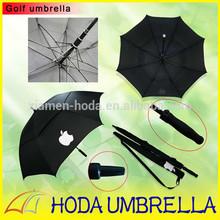 Classic Apple Promotional Golf Umbrella /Self-fabric Pounch/ fiberglass mesh shaft sales
