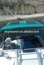 High power 150W semi flexible solar panel for boat,yacht,caravan use