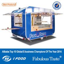 FV-58 2014 New Style Hamburgers Street Food Kiosk Cart 4 Wheels van for fast food