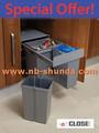 twin construído em contentores de reciclagem hailo multibox duo construído na cozinha compacta bin bin cozinha