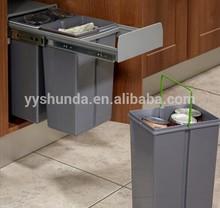 Built In Kitchen Cupboard Pull Out Hidden Bins pull out waste bin built in recycling bin