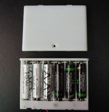 6 aa White Waterproof Battery Holder With Cover & SWitch