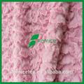 la fábrica de china de poliéster suave de la felpa en relieve de pavo real tela polar