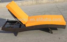 alu/round rattan sun lounge ,KD design