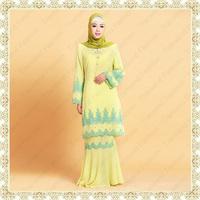 16060 Nice design muslim women plus size baju kurung wholesale supplier
