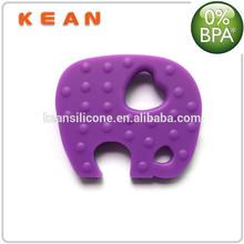 Elephant Pendant/ Food Grade FDA Approval Silicone Elephant Pendant for Baby Teething