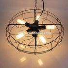 2014 vintage black metal and edison light bulb industrial fan pendant lighting