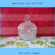 claro e moderno hermético vasilha de armazenamento padrão de losango pequenos frascos de vidro e tampas