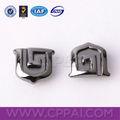 logotipo personalizado formabuena chapado de metal del remache complemento para prendas de vestir
