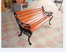 Public wooden garden bench seats