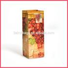 Lovely Brown grape shape craft paper bag for wine