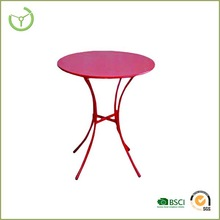 """colorful coffee table-Pink metal table with 24"""" Dia tabletop"""