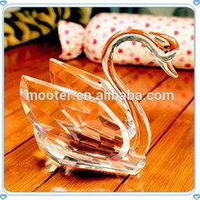 2015 Transparent Fantastic Crystal Swan Handcraft for Ladies' Gift